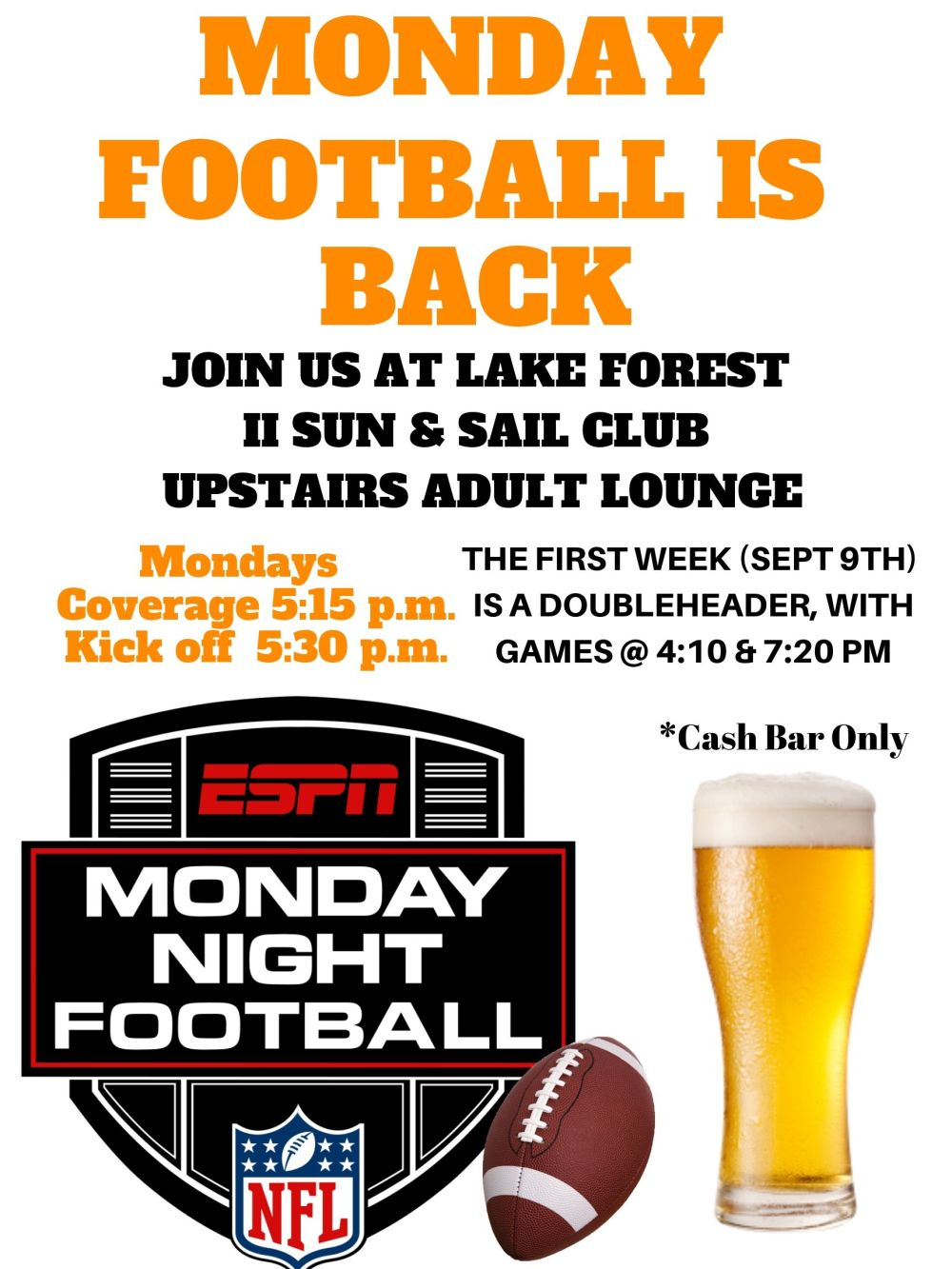 MONDAY FOOTBALL IS BACK